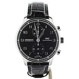 IWC Portugieser Chronograph Black Dial Stainless Steel 41mm IW371447 Full Set