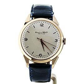 IWC Vintage Rose Gold Fancy Lug Manual Wind 36mm