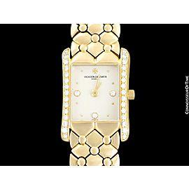 VACHERON & CONSTANTIN ISPAHAN Ladies 18K Gold & Diamond Watch - $40,000, Mint