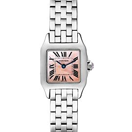 Cartier Santos Demoiselle MOP Dial Steel Ladies Watch W25075Z5 Box Papers