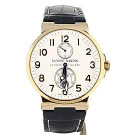 Ulysse Nardin Marine Chronometer 18K Rose Gold Complete Set. Ref: 266-66