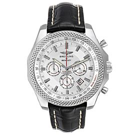 Breitling Bentley Barnato 49mm White Red Dial Steel Mens Watch A25368 Box Papers