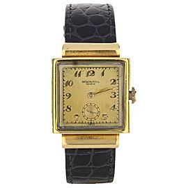 Patek Philippe Vintage 18k Rose Gold Square 2473 18K Yellow Gold