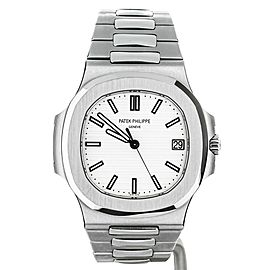 PATEK PHILIPPE NAUTILUS SS 40MM WHITE DIAL REF: 5711/1A-011 FULL SET UNPOLISHED