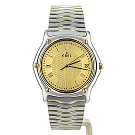 Ebel Sport Classic Wave Stainlesss Steel Yellow Gold 27mm