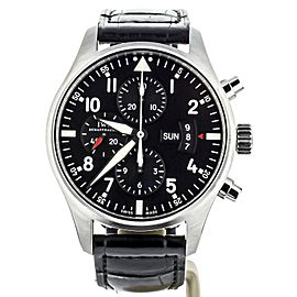 IWC Pilots Watch Chronograph Black Dial 43mm IW377701 Full Set