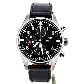 IWC Pilots Watch Chronograph Black Dial 43mm IW377709 Full Set