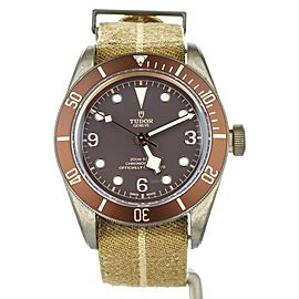 Tudor Black Bay Bronze Brown Dial on Nato Strap 43mm 79250B