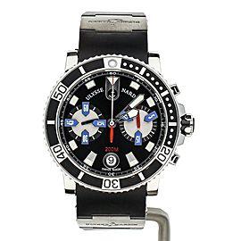 Ulysse Nardin Maxi Marine Diver Chronograph Rubber Strap 8003-102-3/92 Full Set