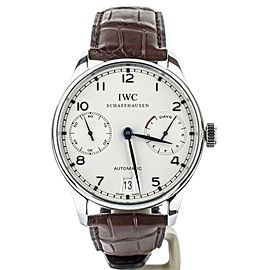 IWC Portuguese 7 Days automatic 42mm Blue Numerals IW500107 Full Set