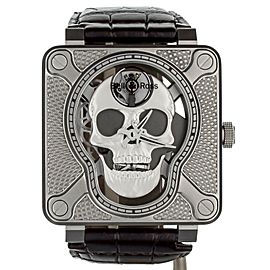 Bell & Ross Lauging Skull BR01-SKULL-SK-LGD Stainless Steel