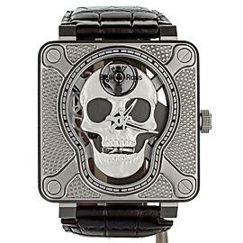 Bell & Ross Lauging Skull BR01-SKULL-SK-LGD Stainless Steel