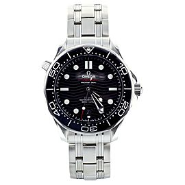 Omega Seamaster Diver 300m 42mm Black Dial ref 21030422001001 New Full Warranty