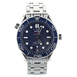 Omega Seamaster Diver 300m 42mm Blue Dial ref 21030422003001 New Full Warranty