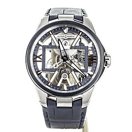 ULYSSE NARDIN SKELETON X 42MM TITANIUM ON STRAP W/DEPLOY FULL SET 3713-260-3/03