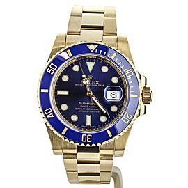 ROLEX SUBMARINER YELLOW GOLD 40MM BLUE DIAL REF: 116618LB FULL SET
