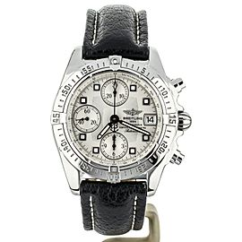 Breitling Cockpit Chronograph Black Alligator Strap 39mm A13358 COMPLETE SET