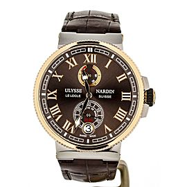 Ulysse Nardin Marine Chronometer Rose Gold bezel Brown Dial 1185-126 43mm