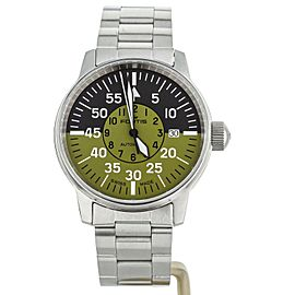 Fortis Flieger Cockpit Black Green 40mm 595.11.16 M COMPLETE SET