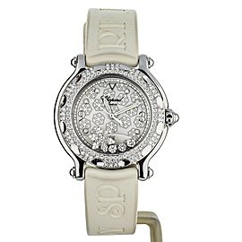 Chopard Happy Sport Snowflake 32.5mm 8236 white rubber strap