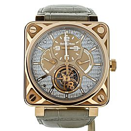 Bell & Ross BR01 Tourbillon Rose Gold BR01-TOURB-PG/ALU 46mm Full Set