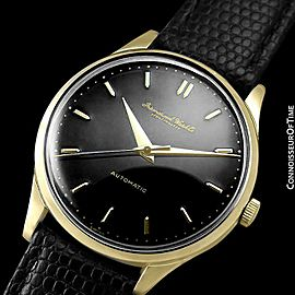 1958 IWC Vintage Mens Full Size Cal. 853 18K Gold Watch - Mint with Warranty
