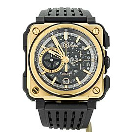 Bell and Ross BR-X1 Chronograph Rose Gold Ceramic 45mm BR-X1-PG-CE Full Set