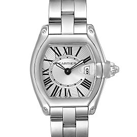 Cartier Roadster Silver Dial Small Model Steel Ladies Watch