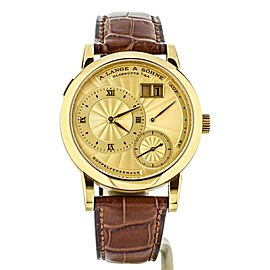 A Lange & Sohne, Lange One Yellow Gold guilloché dial 38.5mm 112.021 LE 98/100