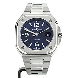 BELL & ROSS BR05 ON BRACELET BLUE DIAL BR05A-BLU-ST/SST 40mm FULL SET