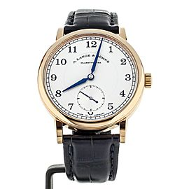 A. LANGE & SOHNE 1815 ROSE GOLD 38MM MANUAL WIND FULL SET REF: 235.032