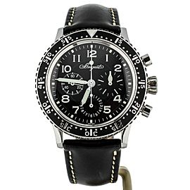 BREGUET TYPE XX AERONVALE ON STRAP BLACK DIAL FULL SET REF 3803ST