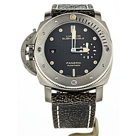 PANERAI SUBMERSIBLE LEFT HOOK 47MM TITANIUM REF PAM 569