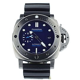 PANERAI SUBMERSIBLE PAM 692 BMG TECH BLUE DIAL COMPLETE SET