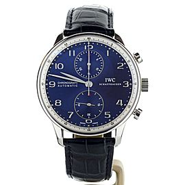 IWC Portuguese Chronograph Laureus Limited edition blue dial 41mm IW371432