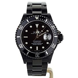 Rolex Submariner Date 40mm 16610 Blacked out Full Set