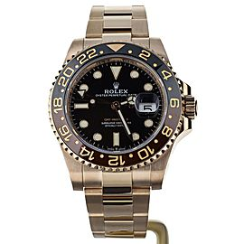 Rolex GMT Master II Rootbeer Rose Gold Black Dial 40mm 126715