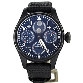 IWC Big Pilot Perpetual Calendar Rodeo Drive 46mm Blue IW503001 Complete Set