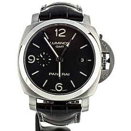 Panerai PAM329 GMT Stainless Steel Bracelet & Leather Strap Deployant Full Set