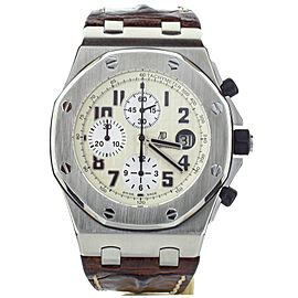 AUDEMARS ROYAL OAK OFFSHORE SAFARI 42MM STEEL COMPLETE SET REF 26170ST