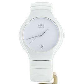 Rado True Jubile White ceramic 40mm R27695722 complete set