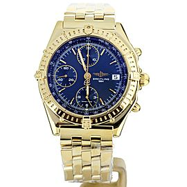 Breitling Chronomat Yellow Gold Black Dial 40mm K13050.1