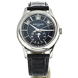 Patek Philippe Complication Annual Calendar 5205G White Gold Blue Dial Full Set