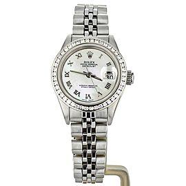 Rolex Datejust 26mm Custom Diamond Bezel Mother of Pearl Dial 69174