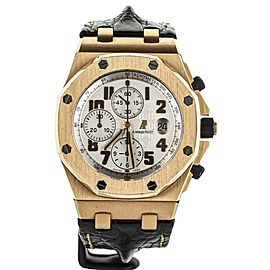 Audemars Piguet Royal Oak Offshore Chronograph Rose Gold on Strap 42mm 26170OR