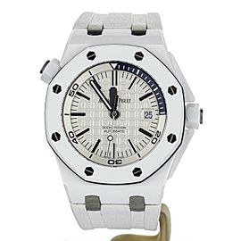 Royal Oak Offshore Diver White Ceramic 42mm Rubber Strap 15707cb.00.a010ca.01