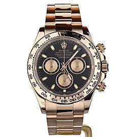 Rolex Daytona 40mm Rose Gold Black Dial Chronograph 116505