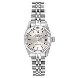 Rolex Datejust Steel White Gold Silver Dial Ladies Watch 69174