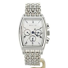 BREGUET HERITAGE CHRONOGRAPH WHITE GOLD 32X38MM ON BRACELET REF: 5460