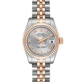 Rolex Datejust Steel Everose Gold Rose Dial Ladies Watch 179171 Box